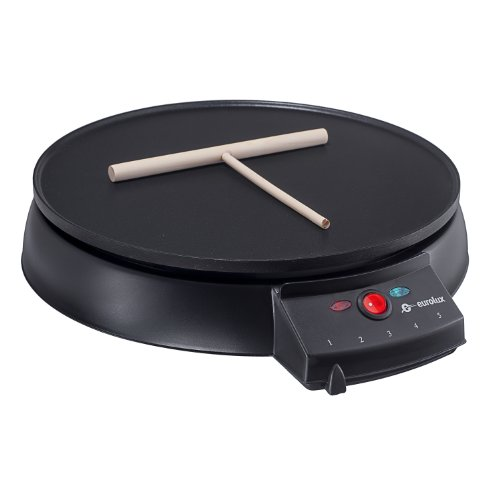 Eurolux Original French Style 12 Inch Electric Griddle and Crepe Maker - Pancake Maker Non-stick Coating Developed By the Swiss Ilag (Crepe Electric Pan compare prices)