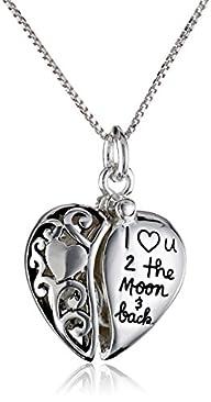 "Sterling Silver Heart ""I Love U 2 The…"