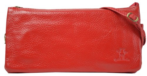 Handbag Gusti Genuine Leather Clutch Purse Shoulder Bag Wallet Satchel Vintage City Leisure Party Evening Bag Small Women Red H38