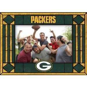 Green Bay Packers Art Glass Horizontal Frame
