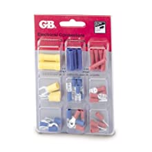 Gardner Bender TK-40 Slide Card Electrical Assorted Terminal Kit, Ring and spade terminals, butt splices, female disconnects, 22-10 AWG, 40-Piece