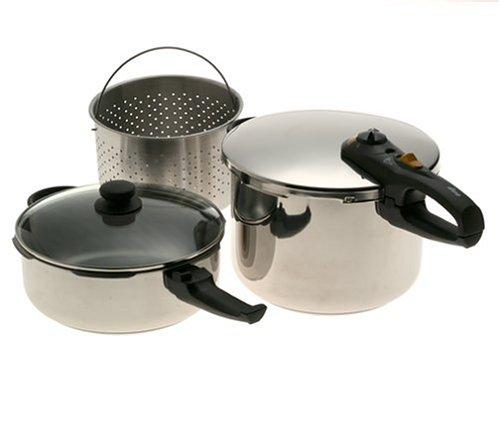 Fagor Duo Combi 5-Piece Pressure Cooker Set front-1062684