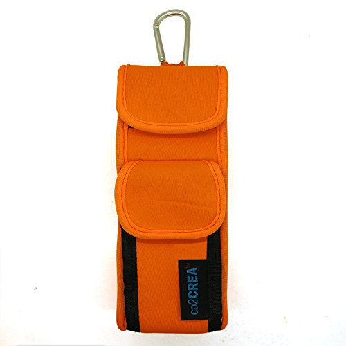 Co2Crea(Tm) Orange Soft Neoprene Carry Travel Case Cover Skin Sleeve Bag With Bicycle/ Bike/Motorcycle Cable Tie For Bose Soundlink Mini Bluetooth Wireless Mobile Speaker