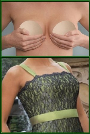 BustFree Strapless Bust Enhancer Bra in Nude & Medium Size .. Fits Cup Sizes Full A to Regular B