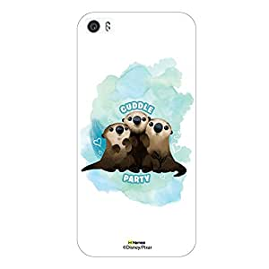Hamee Disney Pixar Finding Dory Official Licensed Designer Cover Hard Back Case for Xiaomi Redmi 3 / 3s ( Otters cuddle party/White )