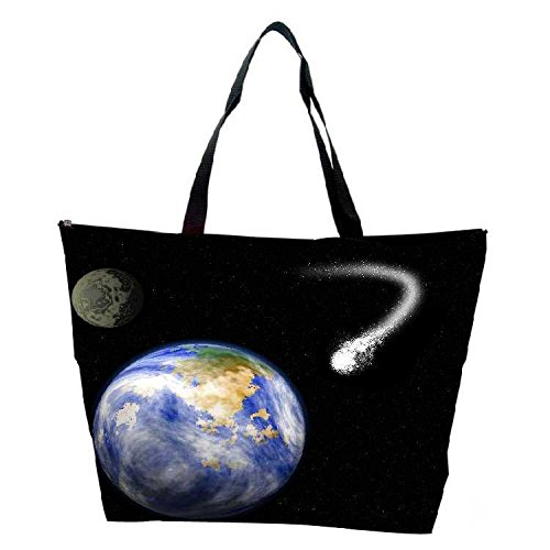 Snoogg Comet Heading For Earth Waterproof Bag Made Of High Strength Nylon