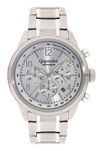 Gigandet Journey Orologio da Uomo Quarzo Cronografo Analogico Data Argento G25-002