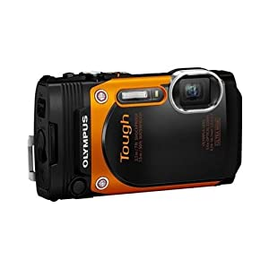 Olympus TG-860 Tough Waterproof 16MP Digital Camera with 3-Inch LCD Full HD Video Built-In Wi-Fi and GPS (Orange)(Certified Refurbished)