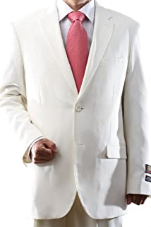 Men's Single Breasted Two Button Off White Dress Suit
