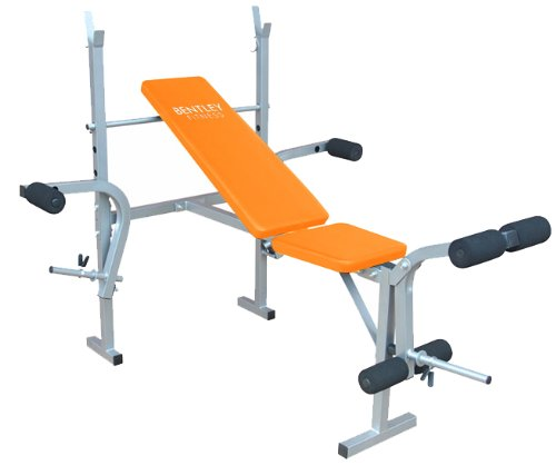 BENTLEY FITNESS MULTI USE EXERCISE WEIGHT BENCH - ORANGE