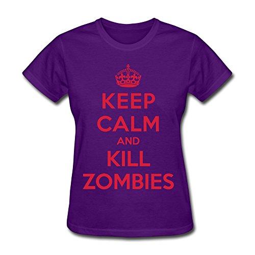 Zhibao 100% Cotton Women'S Keep Calm Kill Zombies T-Shirt Xxl