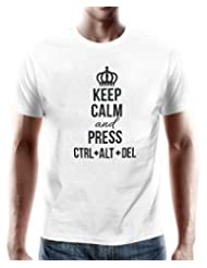 "PosterGuy ""Keep Calm"" White T-Shirt By NASSCOM 10000 Startups"