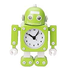 Robot Horloge Movable chevet alarme horloge analogique yeux šŠtincelants Et Son D