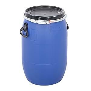 Plastic storage drum open top container 60 litres amazon for Container en francais