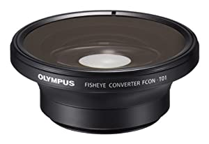Olympus Fisheye Tough Lens Pack (lens and adapter) for TG-1, TG-2, and TG-3 Cameras (Black with Red Adapter)