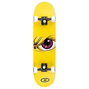 Osprey Pro Trick OSX Skate Board 31'' Complete Skateboard 4 Designs Red Green Blue or Yellow (Yellow - Wrath)