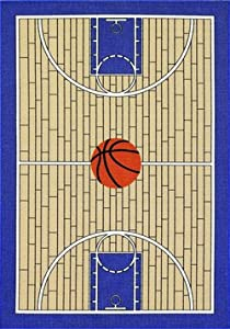 """All Stars Basketball Ground Kids Rug Size: 4'5"""" x 6'9"""" by Dalyn Rug Co."""