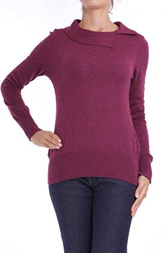 ANTA Q'ULQI - Pullover a maglia con collo Rotondo con Alpaca - viola, XS