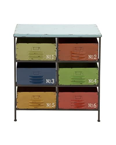 UMA Metal & Wood Storage Chest, Multi