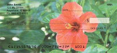 Red Hibiscus Personal Checks