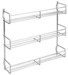 Metaltex 364613010 Étagère à épices 3 étages 30 x 7 x 30 cm Chromé