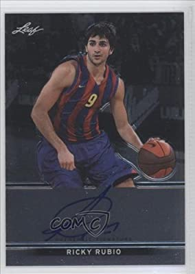 Ricky Rubio Minnesota Timberwolves, Spanish National Team (Spain), Real Madrid Baloncesto (ACB) (Basketball Card) 2012-13 Leaf Metal #BA-RR1
