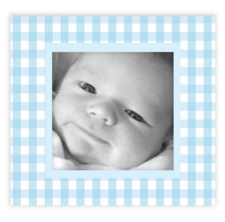 FunToSee Gingham Picture Frame Decals, Blue