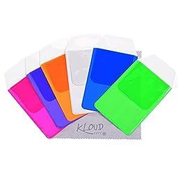 KLOUD City® Assorted Colors Pocket Protector for Pen Leaks (Blue#light green#Hot pink#Purple#Orange#Clear)