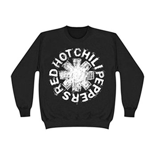 Red Hot Chili Peppers Asterisk Logo Sketch Crewneck Sweatshirt - Black (Red Hot Chili Peppers Crewneck compare prices)