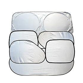 BESTOPEu00ae 6Pcs Folding Silvering Reflective Car Window Sun Shade Visor Shield Cover