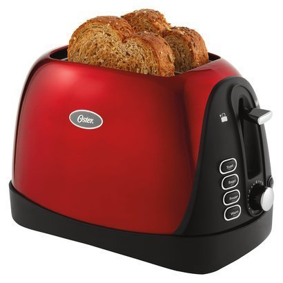 Oster Metallic Red 2-slice Toaster (Oster Toaster 2 Slice Red compare prices)