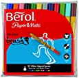 Berol Colour Brush Pen - Assorted Colours (Pack of 12)
