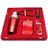 KIng International Stainless Steel Red Bar Set With Gift Box
