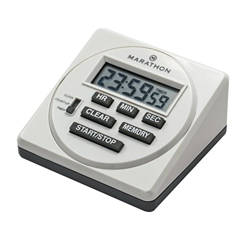 MARATHON TI080001 Large Digital Timer 24 Hour with Countdown, Countup & Clock Feature - Battery Included