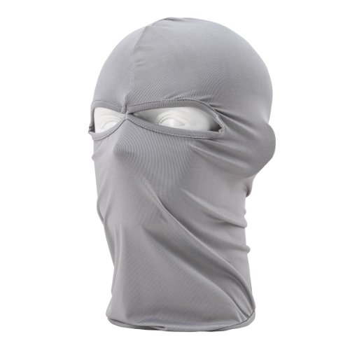 Light Gray Cs Two Holes Motorcycle Cycling Sports Face Mask Cool Fashionable Ultra Thin Balaclava