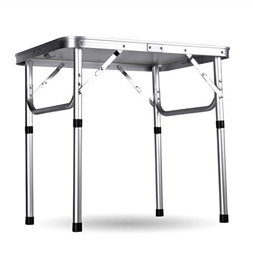 Ancheer-Klapptisch-Campingtisch-GartentischHhenverstellbar-Tragbare-Outdoor-Camping-Tisch-aus-Aluminium60x45x26-56cm