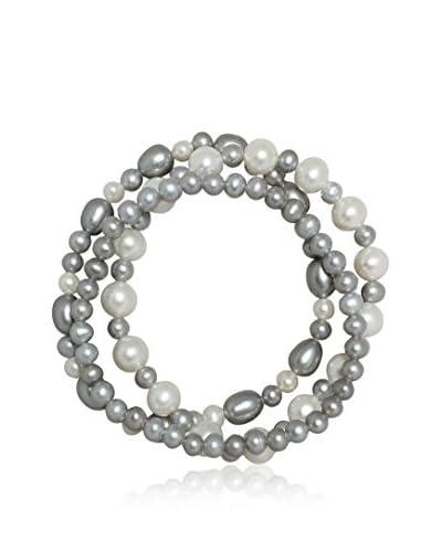 Pure Pearls Pulsera  Blanco / Gris Única