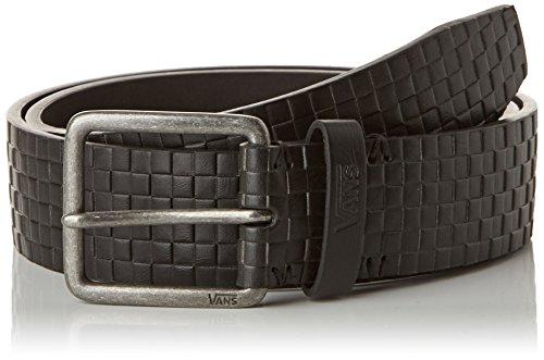 Vans - Devoy Pu Belt, Cintura Uomo, Nero (Black Checker), Large (Taglia Produttore: Large)