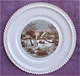 The Homestead In Winter by Currier & Ives Plate