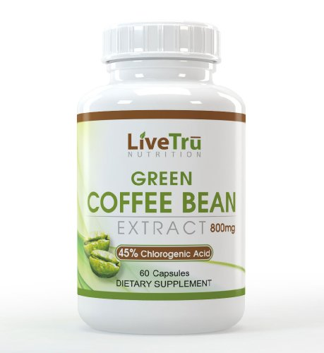 Premium Green Coffee Bean Extract 800Mg - Natural Weight Loss - 100% Pure - 45% Chlorogenic Acid
