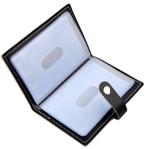 Karlling Soft Leather Case Wallet Bag Holder For 20 Credit Cards(Black)