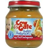 Nutricia cow & gate baby balance savoury meals jar stage 1 4+ months my first bolognese 125g