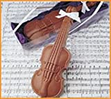 Mothers Day, Recital, Concert, Musicians gift of Solid Milk Chocolate in a Violin Design