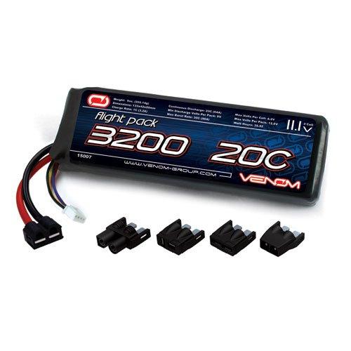 Venom 15007 3S1P 20C 11.1V 3200mAh LiPo, Universal Plug