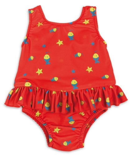 Bambino Mio Swimsuit Nappy Diaper, Red Fish, Large front-112648