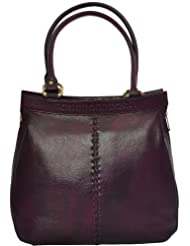 Zifana Leather Hand Bag Brown For Women - B00JHN2DN8