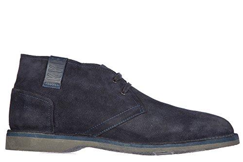 Bikkembergs polacchine stivaletti scarpe uomo camoscio tag 710 mid vintage blu EU 45 BKE107669