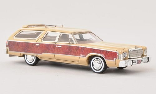 chrysler-town-country-beige-with-wood-1976-model-car-ready-made-neo-187-by-chrysler