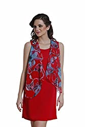 Meiro Women's Body Con Dress (14113_Red_Small)