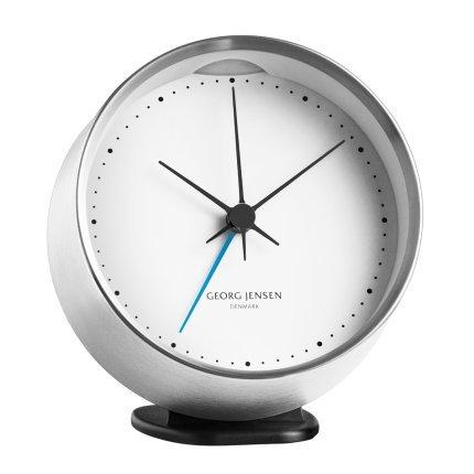 georg-jensen-hk-clock-w-alarm-steel-white-10-cm